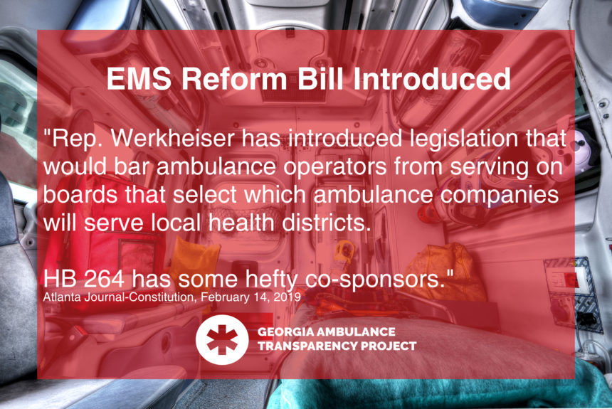 AJC: 'Hefty' slate of lawmakers back EMS reform in Georgia